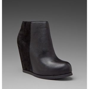 """Dolce Vita """"Paloma"""" suede/leather wedge bootie"""